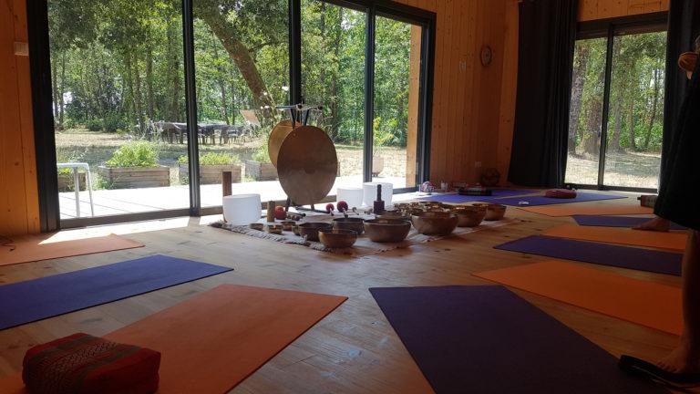 Retraite yoga et sons - Bazas - octobre 2019 : deux jours avec Flora et Fanny