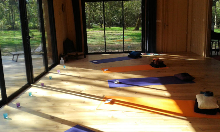 Vacances yoga - Lignan-de-Bazas - juillet 2020 - Salle de yoga