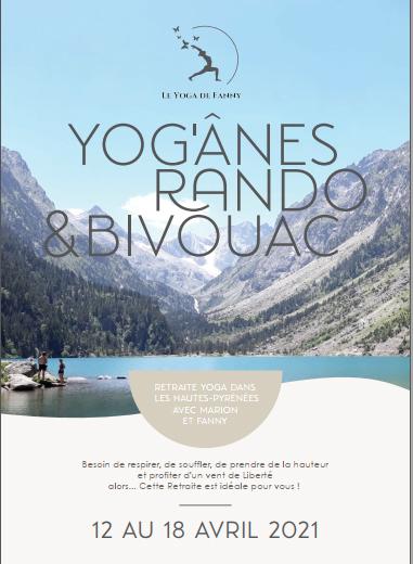 Image - Flyer - Retraite - yoga - ânes - rando - Pyrénées - avril 2021