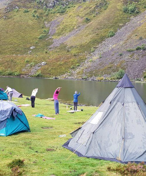 Retraite yoga et ânes - Bivouac au bord du lac